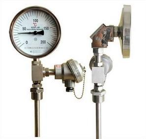 带热电偶/带热电阻双金属温度计